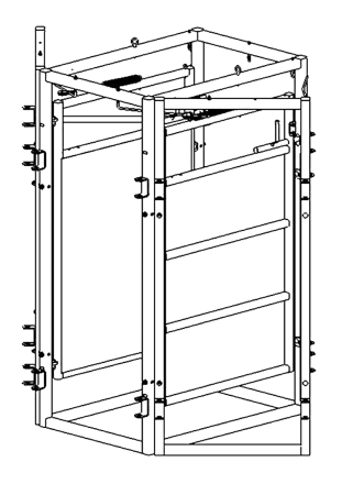 CAD Drawing of Cattle Sorting Gates by Arrowquip