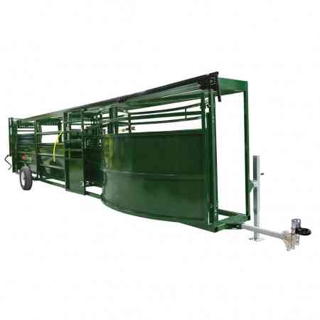 Portable Cattle Forcing Pen and Race Front View