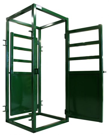 Cattle Vet Cage | Image of Door Swung Out | Arrowquip Cattle Equipment