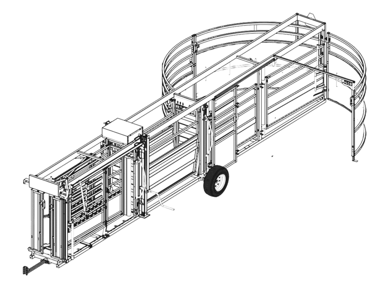 Portable Cattle Chute, Alley & Tub CAD Drawing