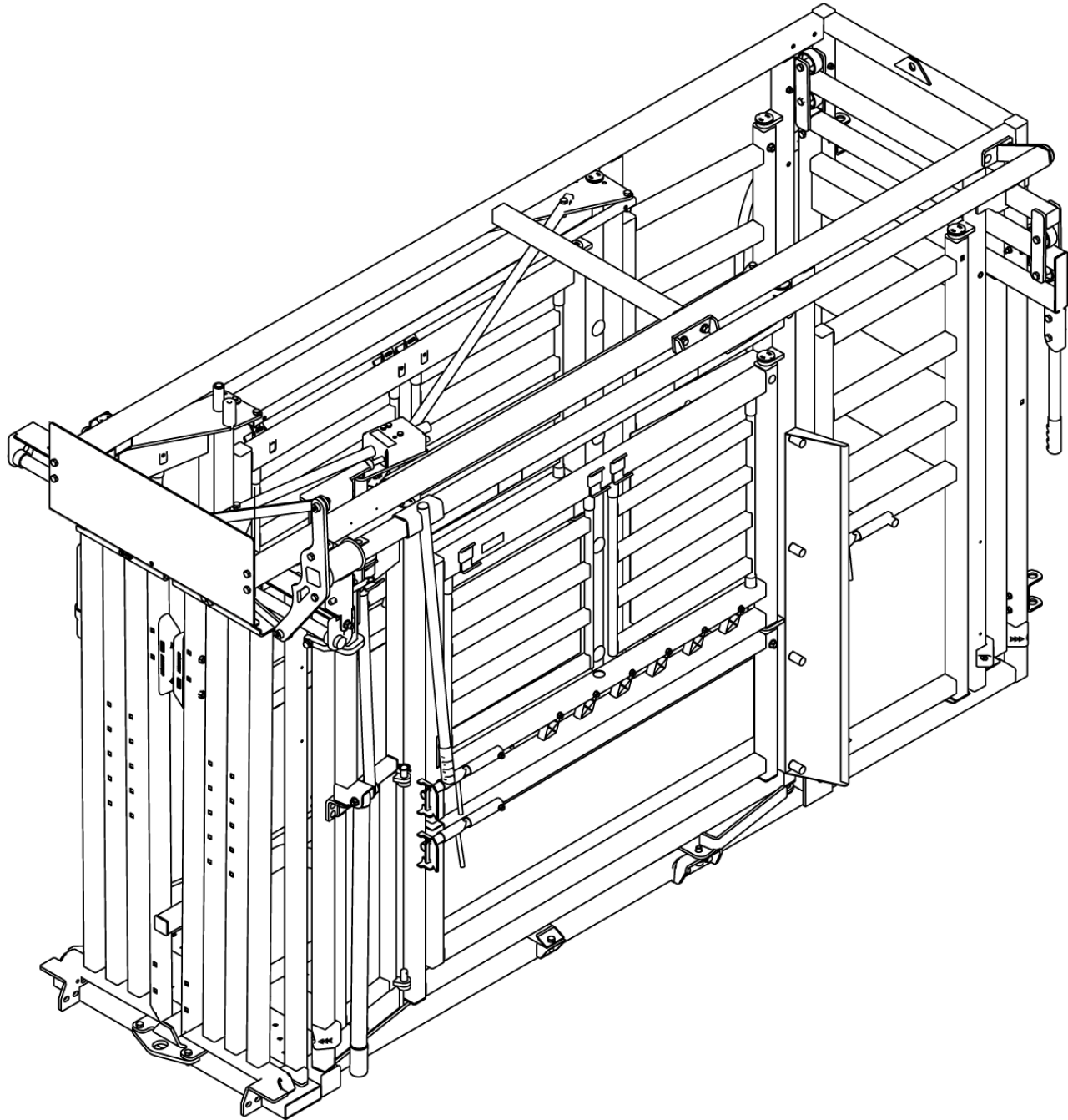 CAD Drawing of the Q-Catch 74 series squeeze chute