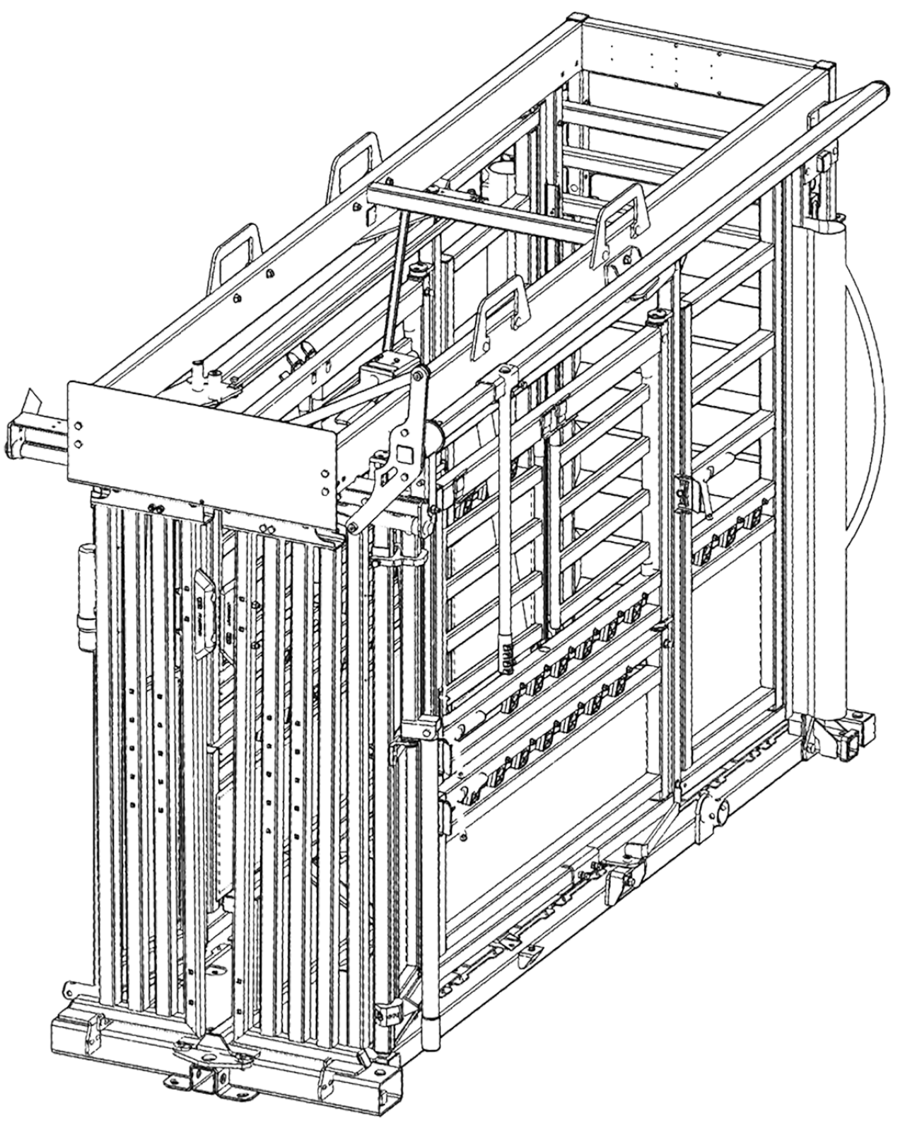 CAD drawing of the Q-Catch 87 Series cattle crush
