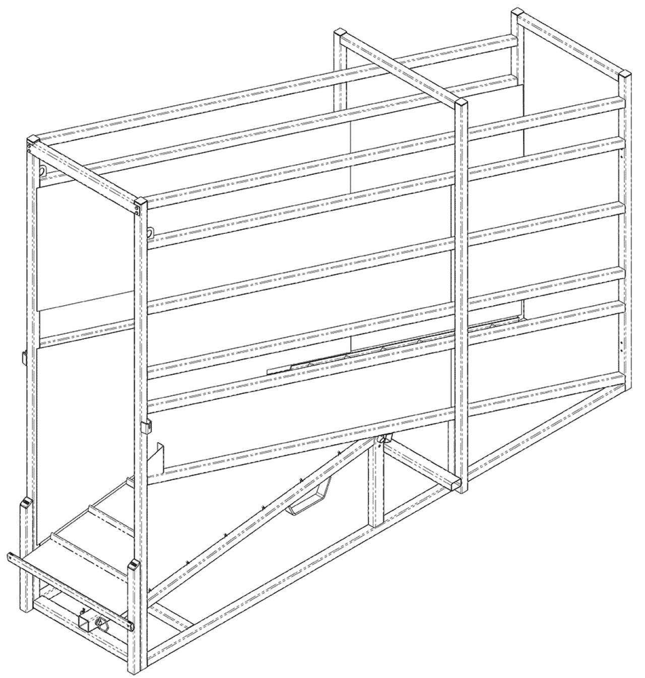 Stationary Cattle Loading Chute | CAD Drawing Cattle Sorting | Arrowquip Cattle Equipment