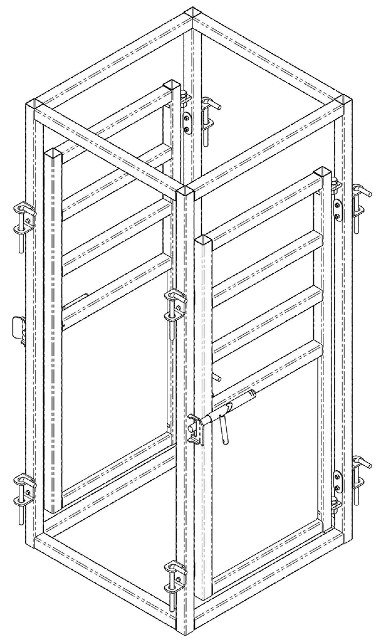 Cattle Vet Cage | CAD drawing | Arrowquip Cattle Equipment