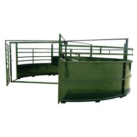 BudFlow Cattle Tub entrance with open gate
