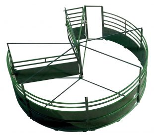 Overhead view of 3E BudFlow cattle tub