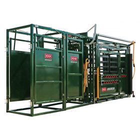 Post-chute cattle drafting gates