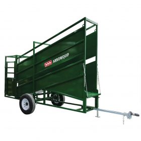 Portable Cattle Loading Chute with palpation cage attached