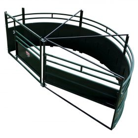 Cattle crowding tub with 180 degree exit