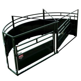 Top view of arrowquip forcing pen single 90 degree race exit