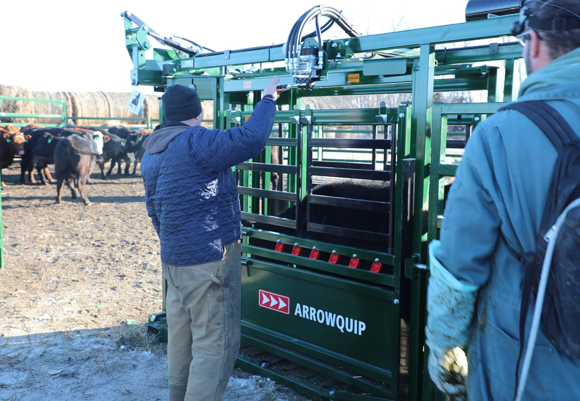 Winter Livestock Handling in the Q-Power 104 Series