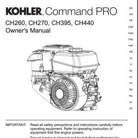 Kohler Command Pro Owner's Manual Cover